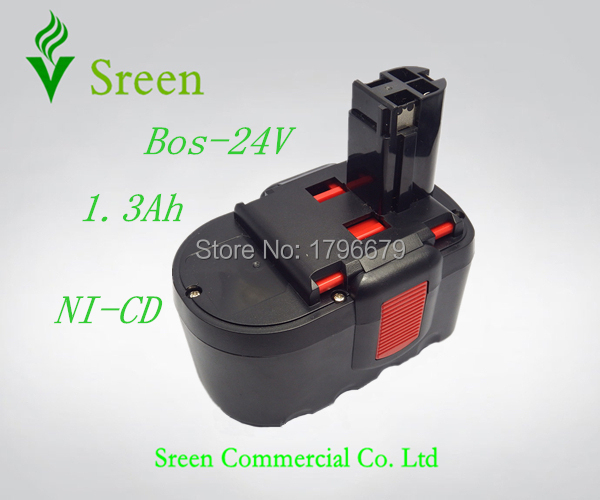 New Spare NI-CD 1.3Ah Rechargeable Power Tool Battery Replacement for Bosch 24V BAT240 BAT030 BAT031 2 607 335 537 2 607 335 280(China (Mainland))