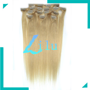 New Fashion FREE SHIPPING 20'' Natural Clip in 8pcs Hair Extension Silky Straight hair #24,100g/set