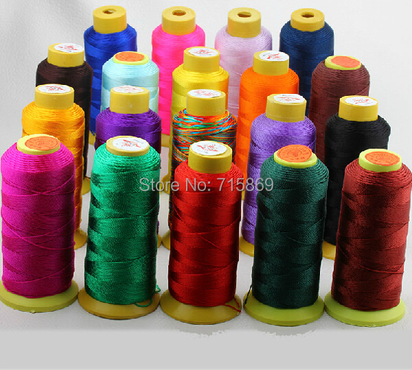 Multi-Color 220m/Row 1mm 12-ply Waxed Acrylic Fiber Cord Fit make crystal bracelet cord Stringing, Macrame cord, Thread,(China (Mainland))