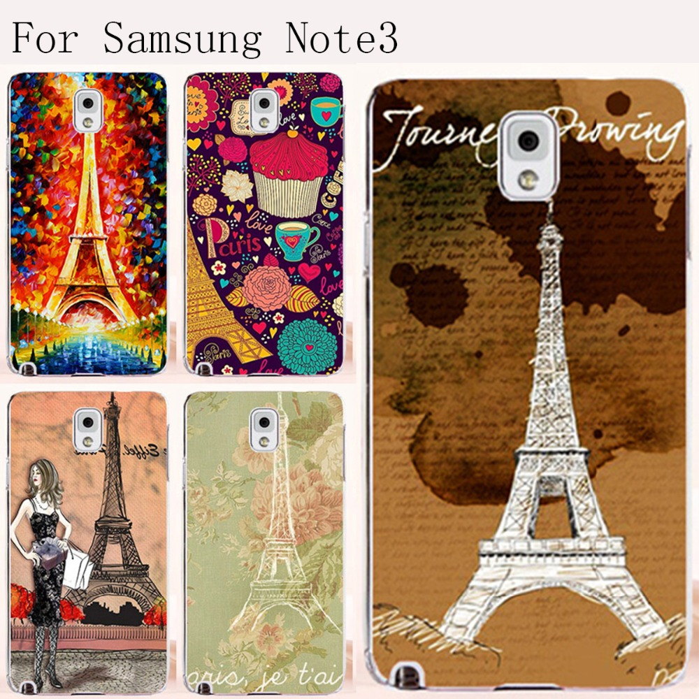Samsung Note III 3 Note3 N9000 N9005 Hot selling Brilliant Painting Eiffel Tower CellPhone Phone case Cover Skin Bag Hood - TAOYUNXI store