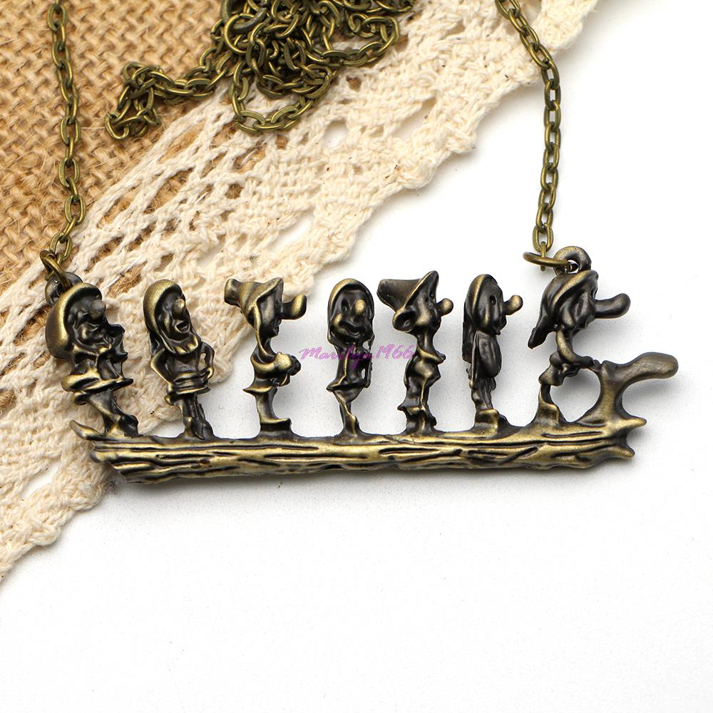 MF1190 The new Europe and the seven dwarfs Chunky Necklace,Gift for Girls(China (Mainland))