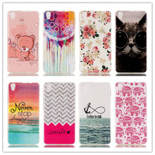 Slim TPU Gel Silicone Soft Back Cover cell Phone Case For Lenovo S850 S850T flowers cat owl Skin Painted Design Protective shell