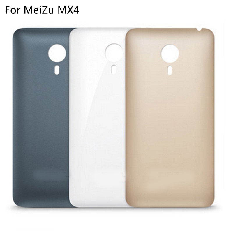 For Meizu MX4 Back Cover Housing Replacement With Logo Mobile Phone Battery Door Case Repair 100% Brand New 3 Colors In Stock(China (Mainland))