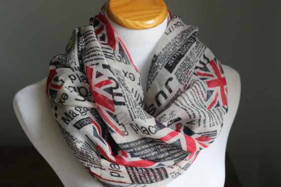 Union Jack Scarf Warm Womens Infinity Scarve London Underground British Print Accessories Gift for her 10pcs/lot free shipping(China (Mainland))
