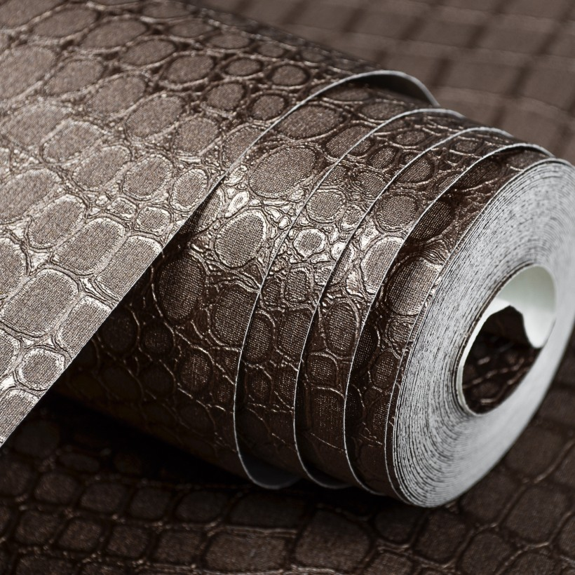 Buy faux leather crocodile pattern for Wall covering paper