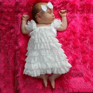Lace Flower Princess White Baby Dress Infant Birthday Newborn Party Dress Wedding Baby Christening Cheap Baptism Dresses(China (Mainland))