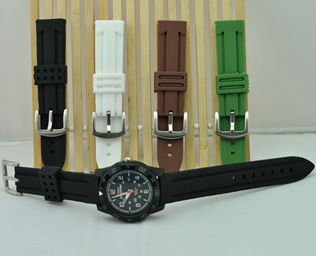 Wholesale 10PCS/Lot Silicone Watchband Fahion Casual Watchbands 20mm/22mm/24mm Watch Strap Stainless Steel Buckle<br><br>Aliexpress