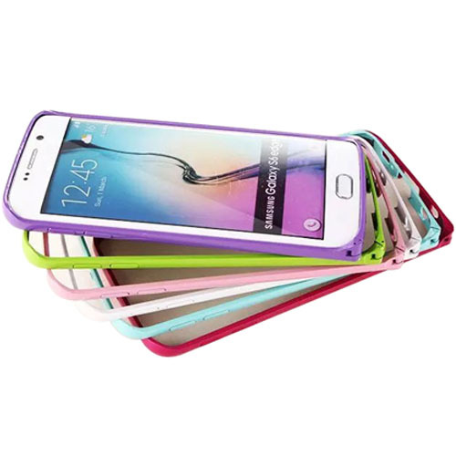 100pcs/lot Aluminum Metal Bumper with Hippocampal Buckle Luxury Colorful Cell Phone Case for Samsung S6 G9200 S6 Edge G9250(China (Mainland))