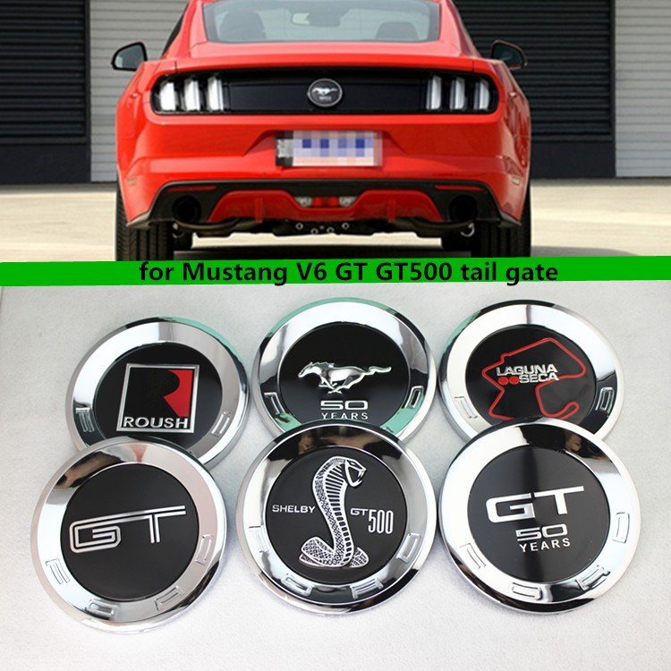 Car 50th Year Anniversary Rear Badge 150MM For Mustang ABS Chrome Running Horse 3D Logo Trunk Tail Emblem Sticker Auto Styling(China (Mainland))