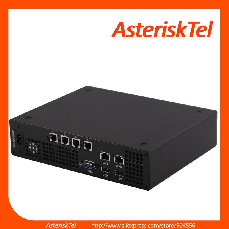 mini VoIP Server with 4 FXO ports based on tdm410p,Elastix Server miniucs,Asterisk Card VoIP phone Appliance pabx(China (Mainland))