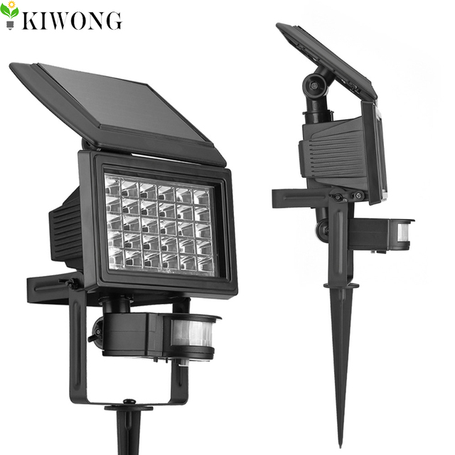 30 led solar motion sensor lights for garden decoration. Black Bedroom Furniture Sets. Home Design Ideas