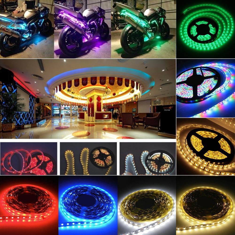 LED Strip Light Flexible LED Strip Light Roll Super Bright Full Color RGB 1M 60LEDs 5050 SMD EB7100(China (Mainland))