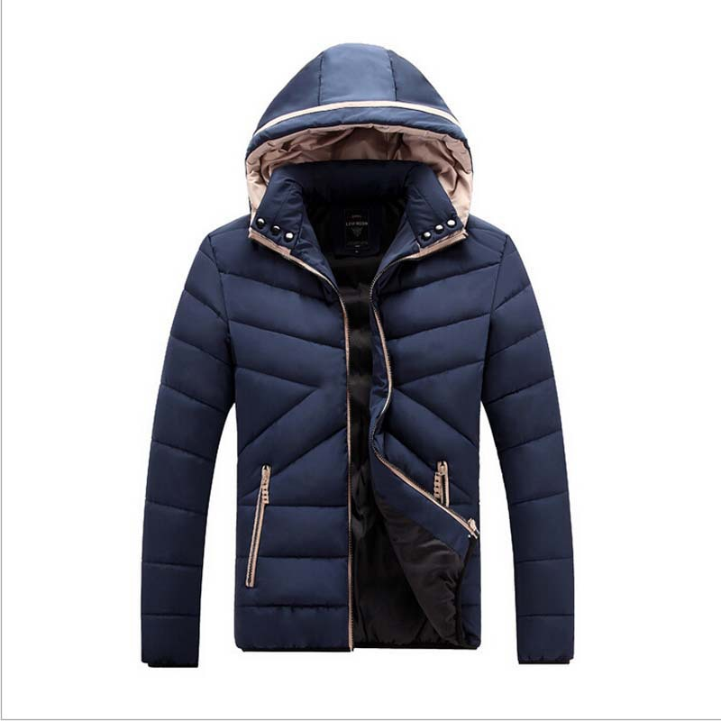 Retail 2015 Brand New Fashion 90% Cotton Down Parka Winter Casual Jacket Mens Hooded Thick Warm Coats AE-ME-162()