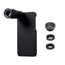 Buy Portable 5 1 9X Telephoto Wide Angle 10X Macro Fisheye Camera Lens Case Cover iPhone 7 Apple Phone Camera Lens Black for $12.99 in AliExpress store