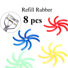 Make Up 8x Replacement Eyelash Curler Refill Rubber Pads Plastic Beauty Tool High Quality(China (Mainland))