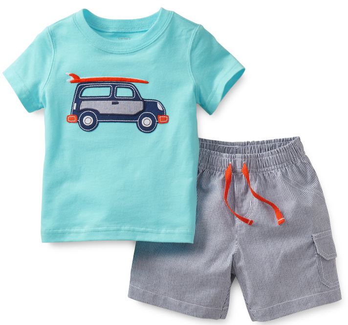 2015 New Original Carters Baby Boys Set, Carters Car Model Cotton 2-Piece Clothing Set, Baby Summer Wear, Freeshipping<br><br>Aliexpress