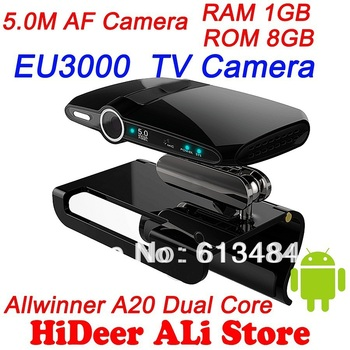 EU3000 Upgrade version of EU2000 5.0MP and Mic Android TV camera HDMI 1080P RAM 1GB ROM 8GB android 4.2 skype Google TV box