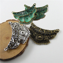 Buy GraceAngie 3pcs Antiqued Green /Bronze/Silver Tone Alloy Charm Creative Moon Connectors Jewelry Necklace Accessories 67*45*6mm for $2.79 in AliExpress store