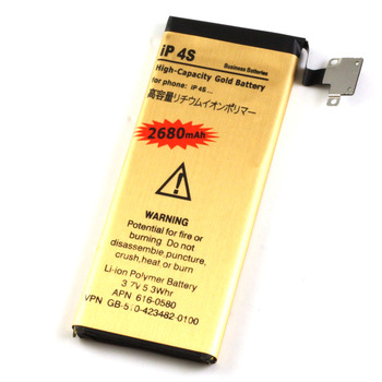 High Capacity 2680mah Gold Li-ion Battery Replacement For Apple iPhone 4S Cell phone Battery Batterie Batterij Bateria