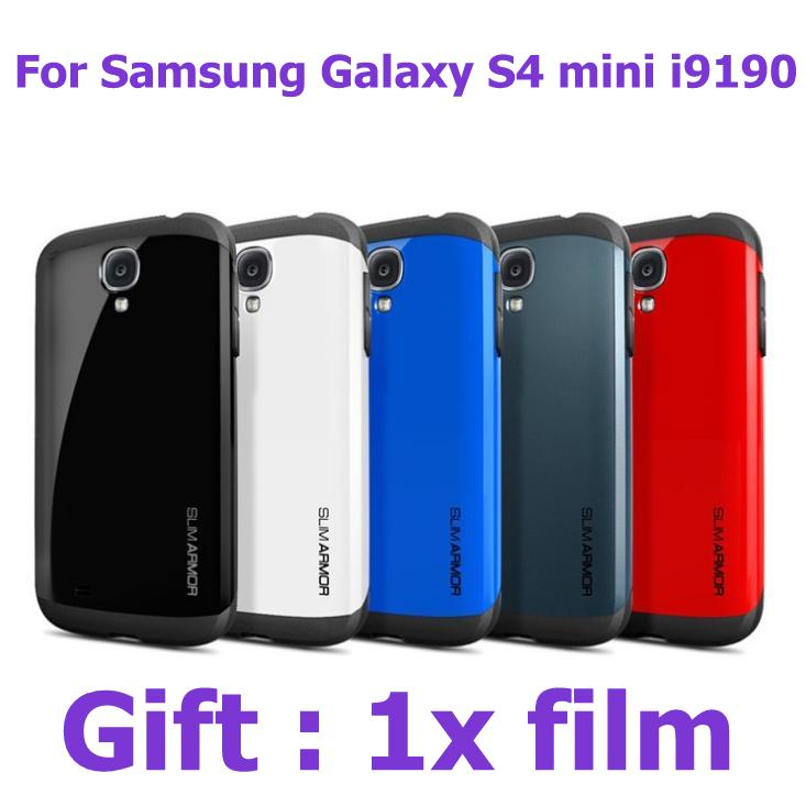 S4mini anti-knock Tough silm Armor Armour Protect Shield phone bags Cases for samsung galaxy s4 mini i9190 cover with 1pcs film(China (Mainland))