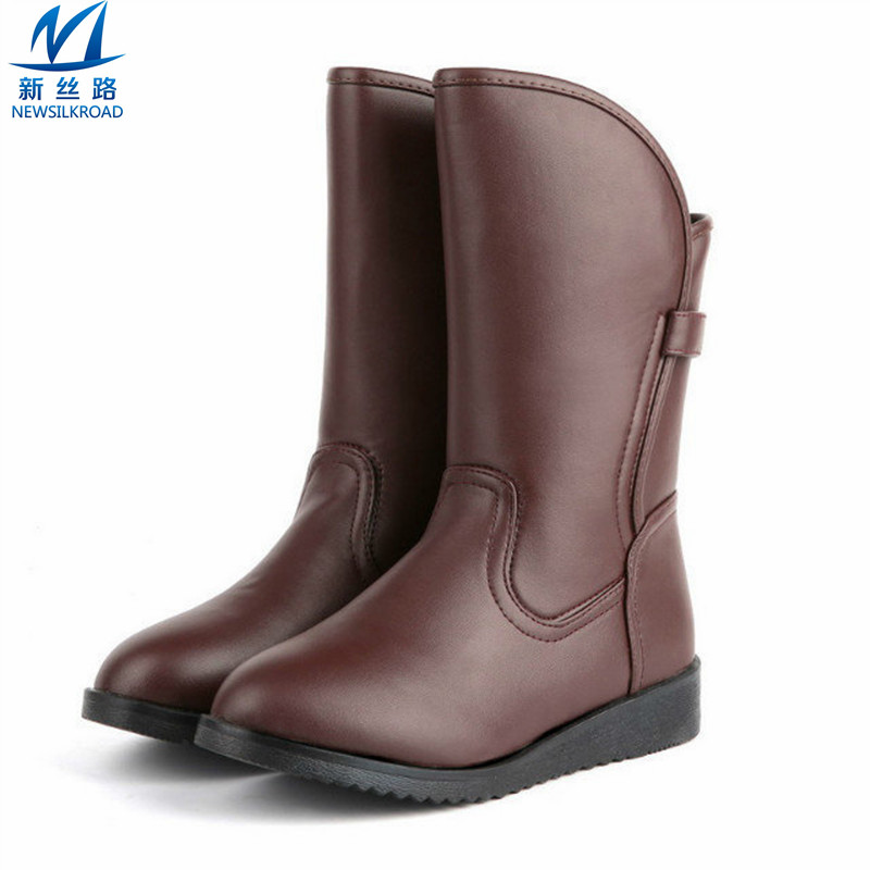 2016 grain leather snow boots fashion knee high
