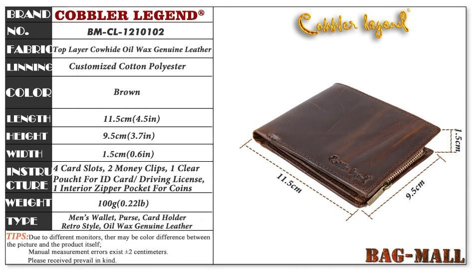 Модный винтажный мужской кошелек из натуральной кожи фото