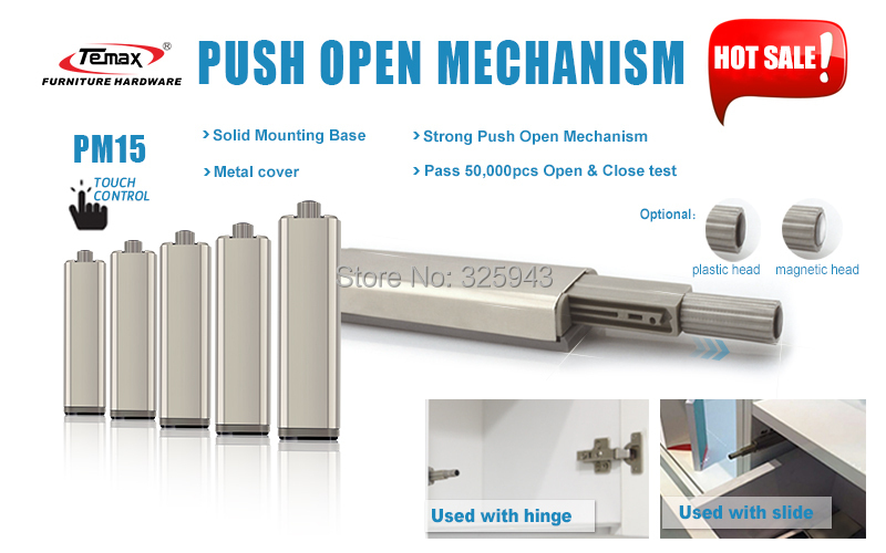 10PCS The New Generation Cabinet Door Drawer Push To Open System Damper Buffer Anti-collision mute furniture door buffer(China (Mainland))