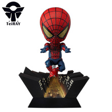 Anime Marvel figma Spiderman figures the amaziing spiderman mini pvc action figure toys doll juguetes free shipping 10cm4″