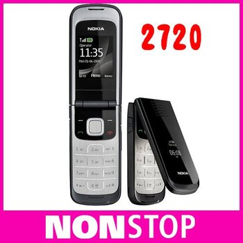 full set 2720 Unlocked Original Nokia 2720 cell phone wholesale in stock one year warranty