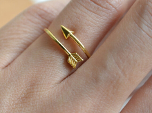 2015 Wedding Gift Brass Adjustable Silver Tiny Arrow Rings Vintage Gold Plated Knuckle Midi Ring Women Men Jewelry(China (Mainland))