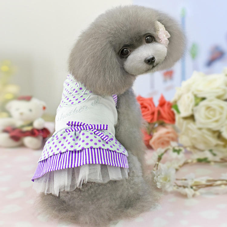 dog clothes Rose dot dress pet clothes pet clothing spring and summer pet dress for dog(China (Mainland))