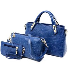 HOT !!! 3 pcs Women Handbag PU Leather Bag 3 pieces Shoulder Bags Lady hand bag Fashion Messenger women Bags