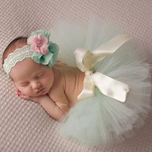 10 Colors Beautiful Baby Tutu Skirt with Flower Headband Fashion Newborn Photograph Prop Tutu and Headband TS025(China (Mainland))