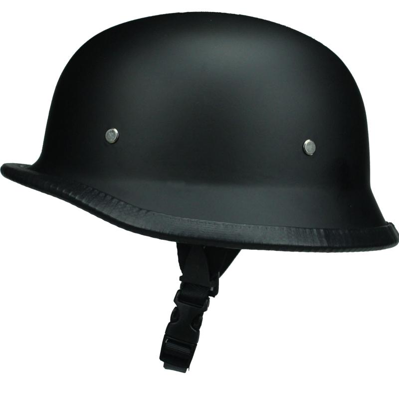 FREE SHIPPING WWII Style BLACK German Motorcycle Half Helmet Chopper Biker Pilot Goggles NEW(China (Mainland))