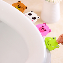 Cute cartoon creative toilet portable toilet cover is not dirty hands opened toilet lid toilet lifting tool(China (Mainland))