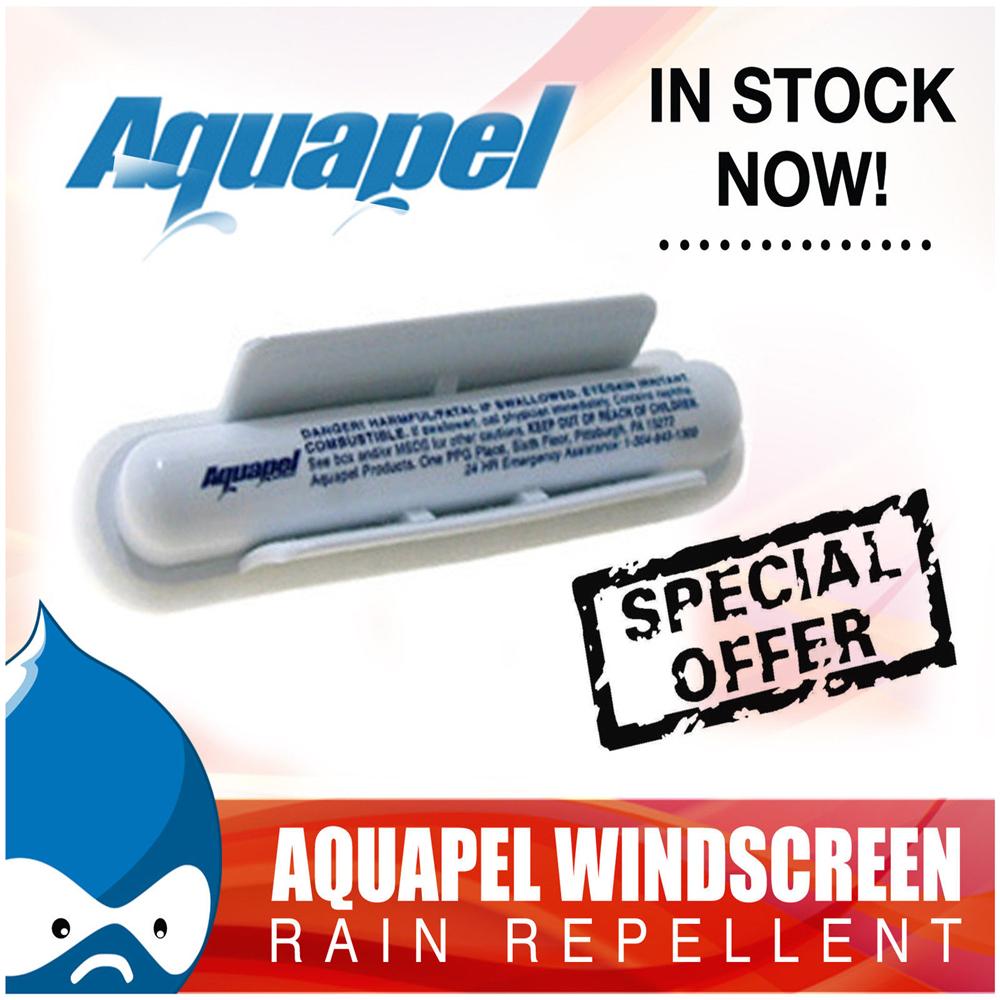 Сша - 1x AQUAPEL ветровое стекло дождевой воды комаров лечение приложения отталкивает AQUAPEL аппликатор AQUAPEL стекло лечение