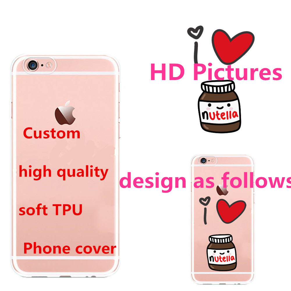 Custom Design DIY Silicone Case Cover For iPhone 6 6s 5 5s SE 7 Plus Customized Printing For Samsung 2016 For huawei For SONY(China (Mainland))