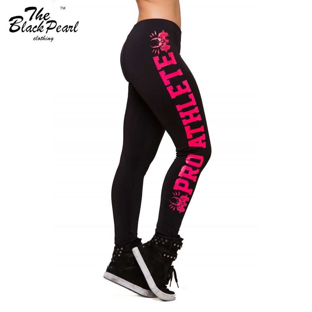 Sexy 2015 Side letters Sports Pants Force Exercise Women Sports casual pants Elastic Fitness Running Trousers