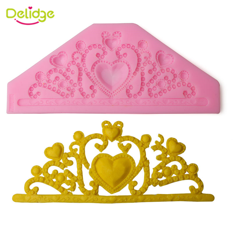 1PC Classic Crown Silicone Cake Mould 3D Tiara Chocolate Soap Fondant Cake Decorating Tools DIY Baking Tools(China (Mainland))