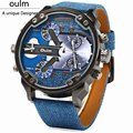 Fashion New Army Military Tag sport Oulm Double Time Show Quartz Wrist Watch Male clock Gift