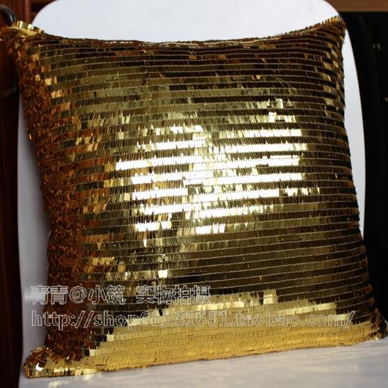 Achetez en gros or paillettes oreiller en ligne des for Taie d oreiller pour canape