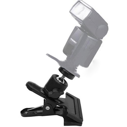 WSFS Wholesale Metal Spring Clamp Clip w/ Ball Head for Camera Flash Photograph<br><br>Aliexpress