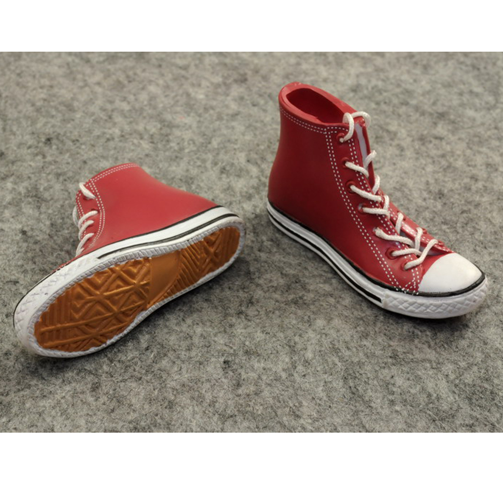 1:6 Scale Red Sneakers Trainers Shoes Fits 12 inch Action Figures