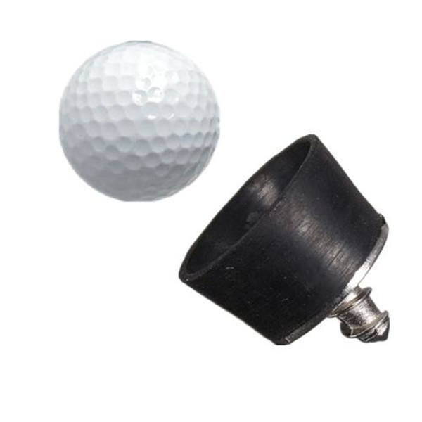 High quality 28x26mm mini black Rubber Golf Ball Pick Up Putter Grip Retriever Tool Suction Cup Pickup Screw golf training aids(China (Mainland))