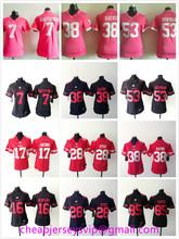 Stitched Women San Francisco 49ers Colin Kaepernick Jarryd Hayne NaVorro Bowman Carlos Hyde Joe Montana Vernon Davis For Ladies(China (Mainland))
