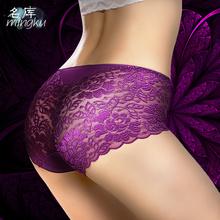 Large European size New Fashion Summer Women's Panties Transparent Underwear Women Lace Soft Briefs Sexy Lingerie panties XXXL