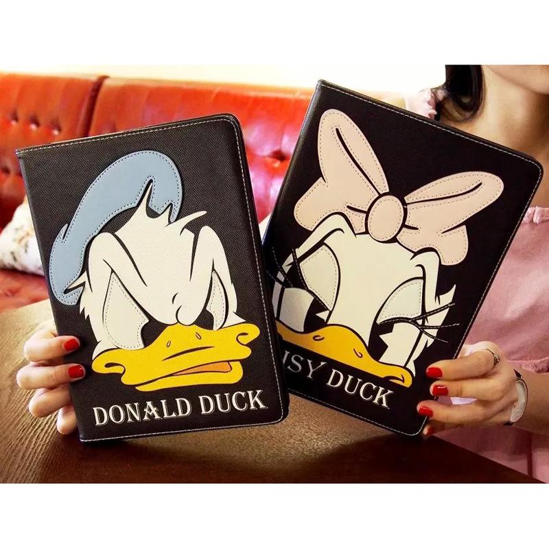 High Quality Cover For Apple iPad mini4 funda cartoon duck Stand Leather Case for ipad mini 1 2 3 Shell case + Stylus pen(China (Mainland))