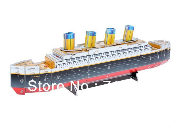 ==RMS Titanic== DIY 3D Puzzle Jigsaw Paper Model Royal steamship Brand New sealed box for Children gift at Promotional Price!