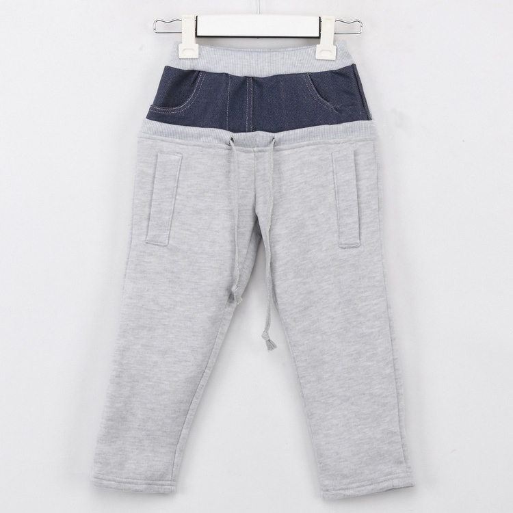 Wholesale Boys Fleece Pants with autumn and winter pocket for kids fleece casual pants long trousers A0011 5pcs/lot(China (Mainland))