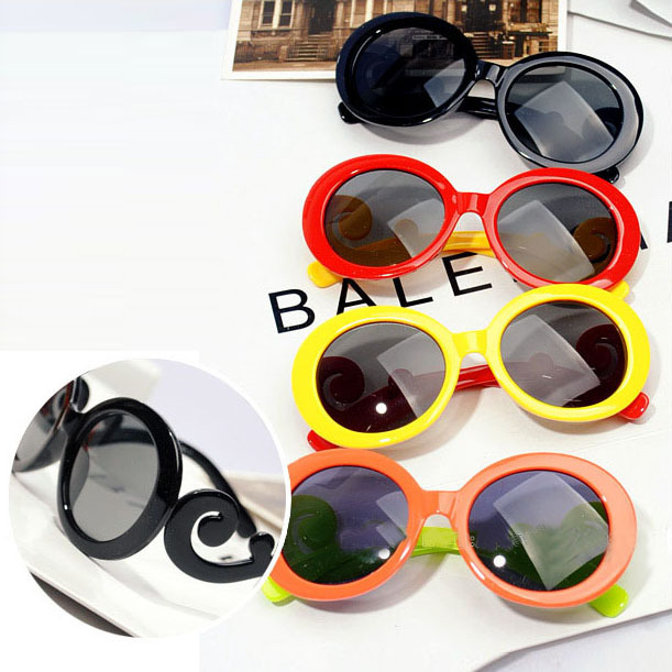 2pcs Boys&girls Brand new Cute Round sunglasses fashion kids Gafas 2015 Child candy color glasses 8 colors Vintage Oculos CH221